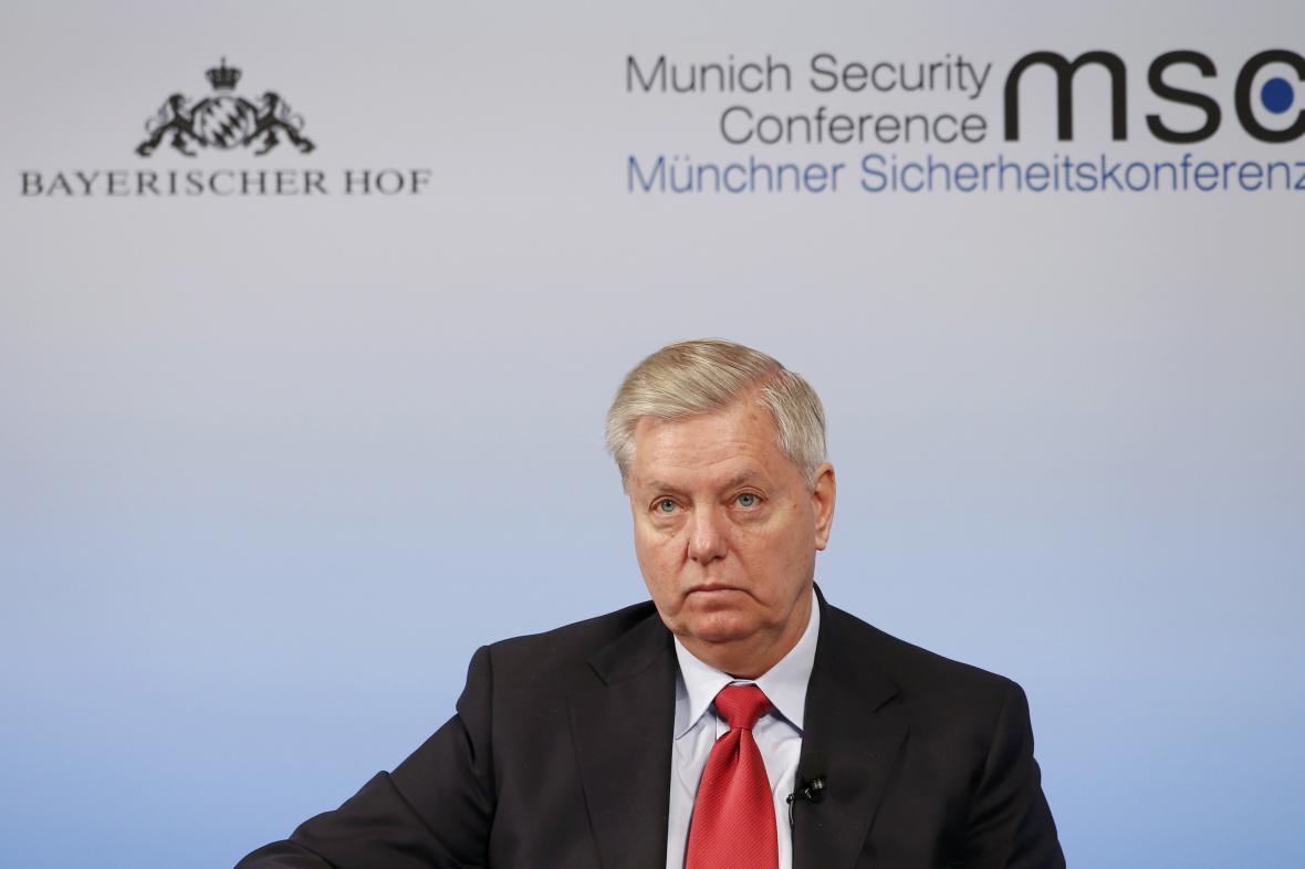 Republikánský senátor Lindsey Graham na konferenci v Mnichově