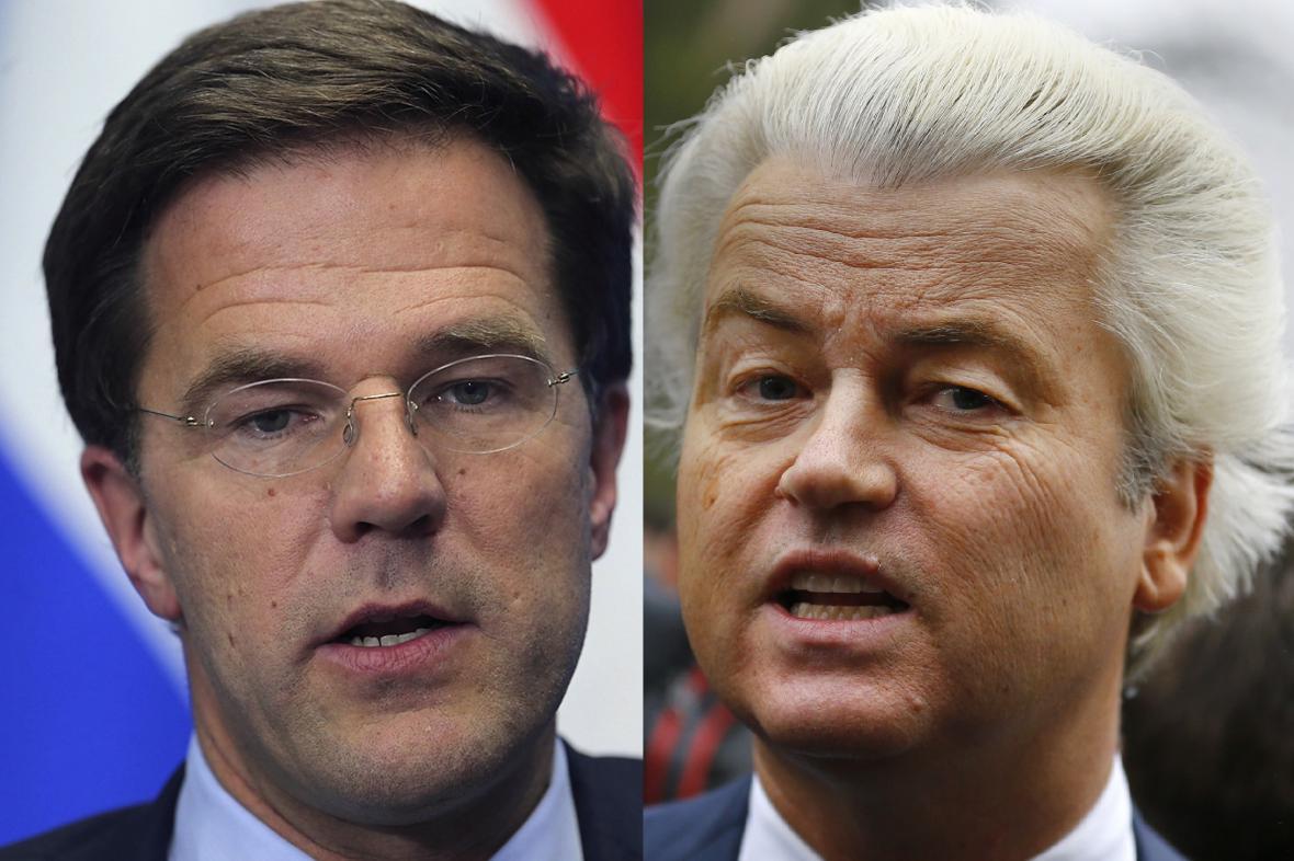Mark Rutte a Geert Wilders
