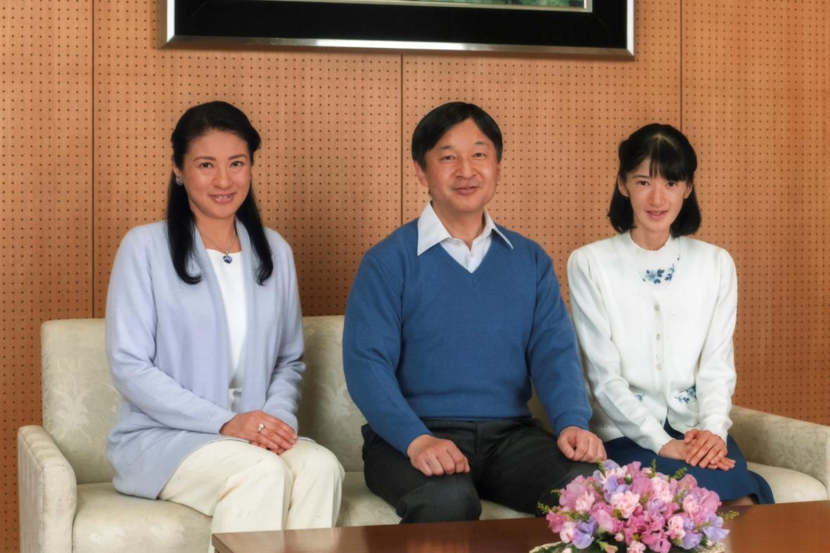 Korunní princ Naruhito s rodinou
