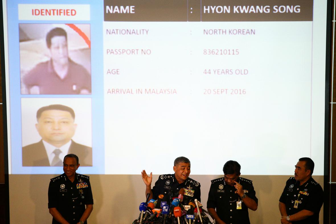 Malajsijská policie informuje o Hjon Kwang-songovi