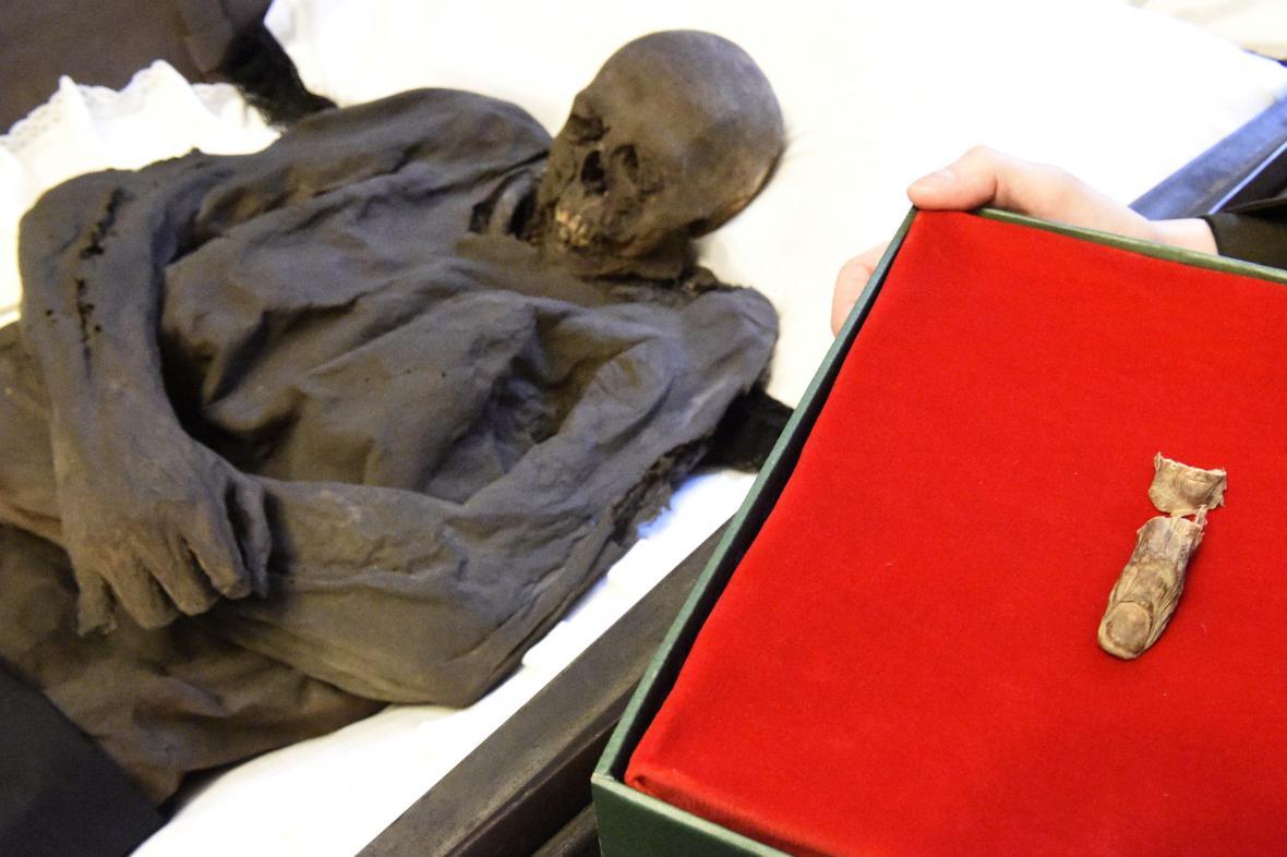 Kdo vzal mumii její palec a proč, není stále zřejmé