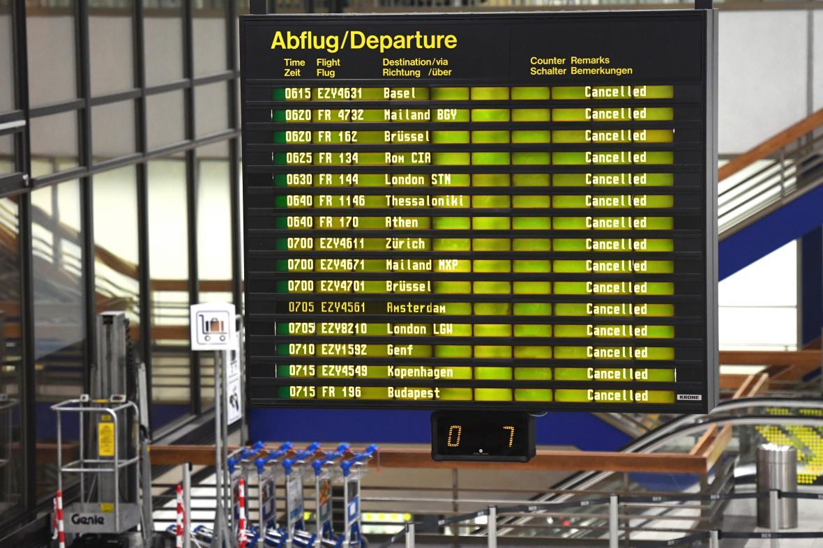 Stávka berlínských letišť