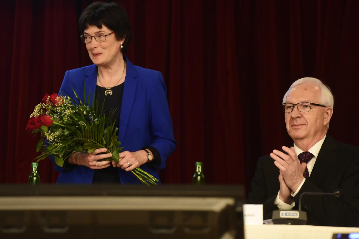 Eva Zažímalová a Jiří Drahoš