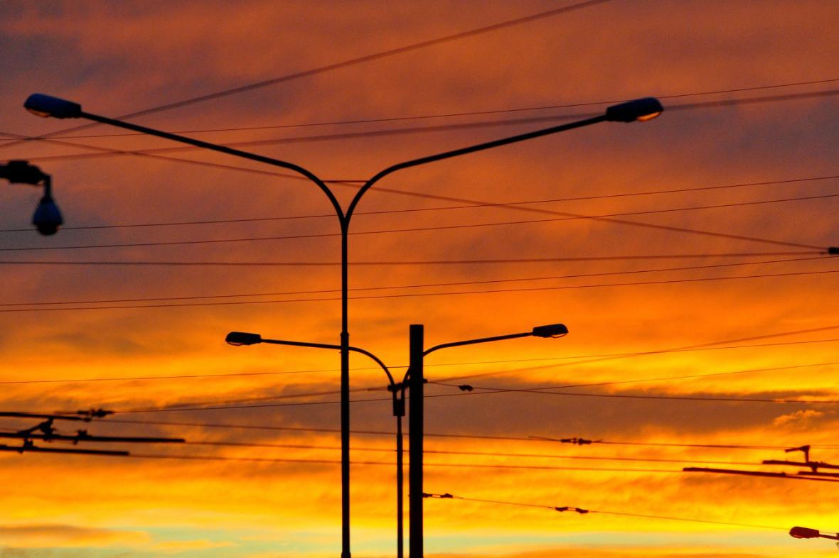 Pouliční osvětlení v Brně