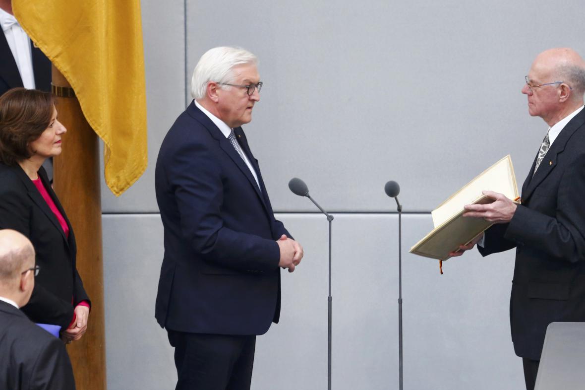 Frank-Walter Steinmeier při složení přísahy