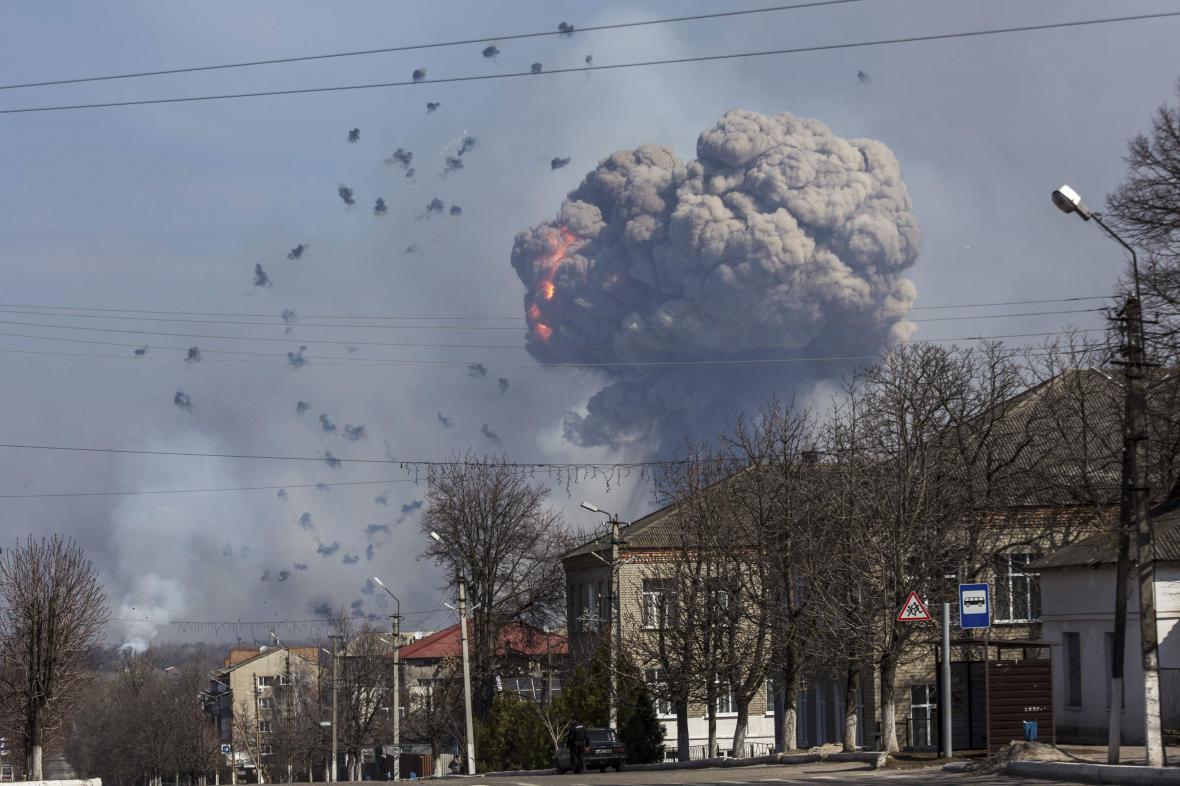 Exploze muničního skladu v Balaklije
