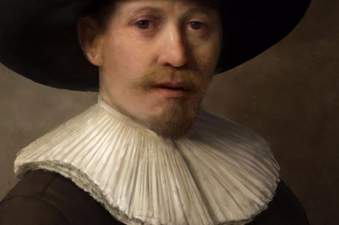 Nový Rembrandt namalovaný počítačem