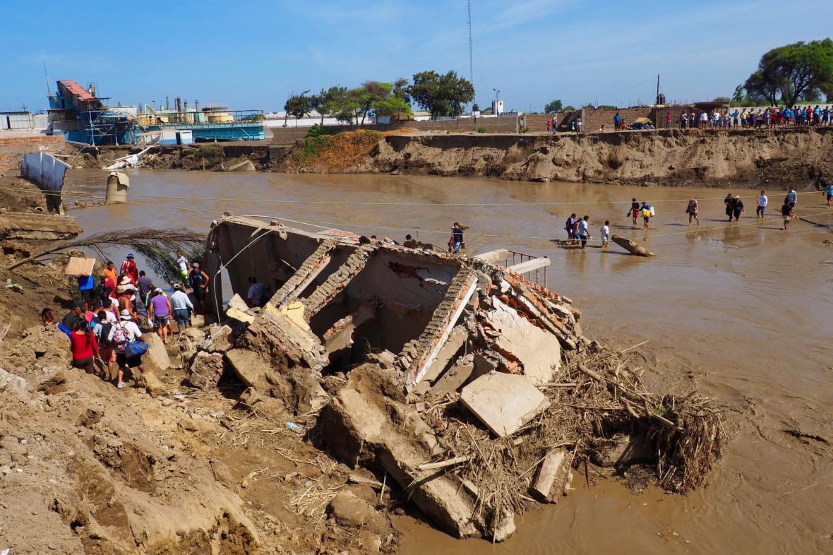 Následky povodní v severním Peru