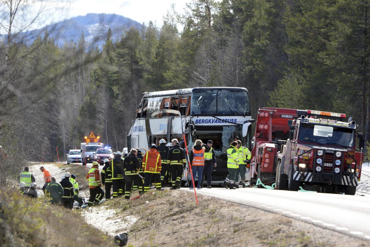Nehoda autobusu ve Švédsku