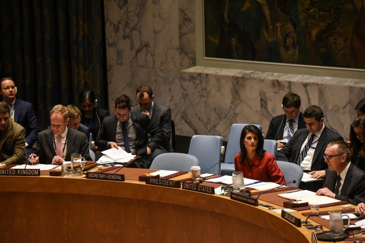 Jednání Rady bezpečnosti OSN k situaci v Sýrii