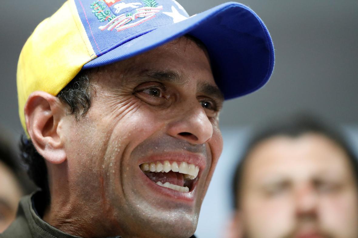 Lídr venezuelské opozice Henrique Capriles