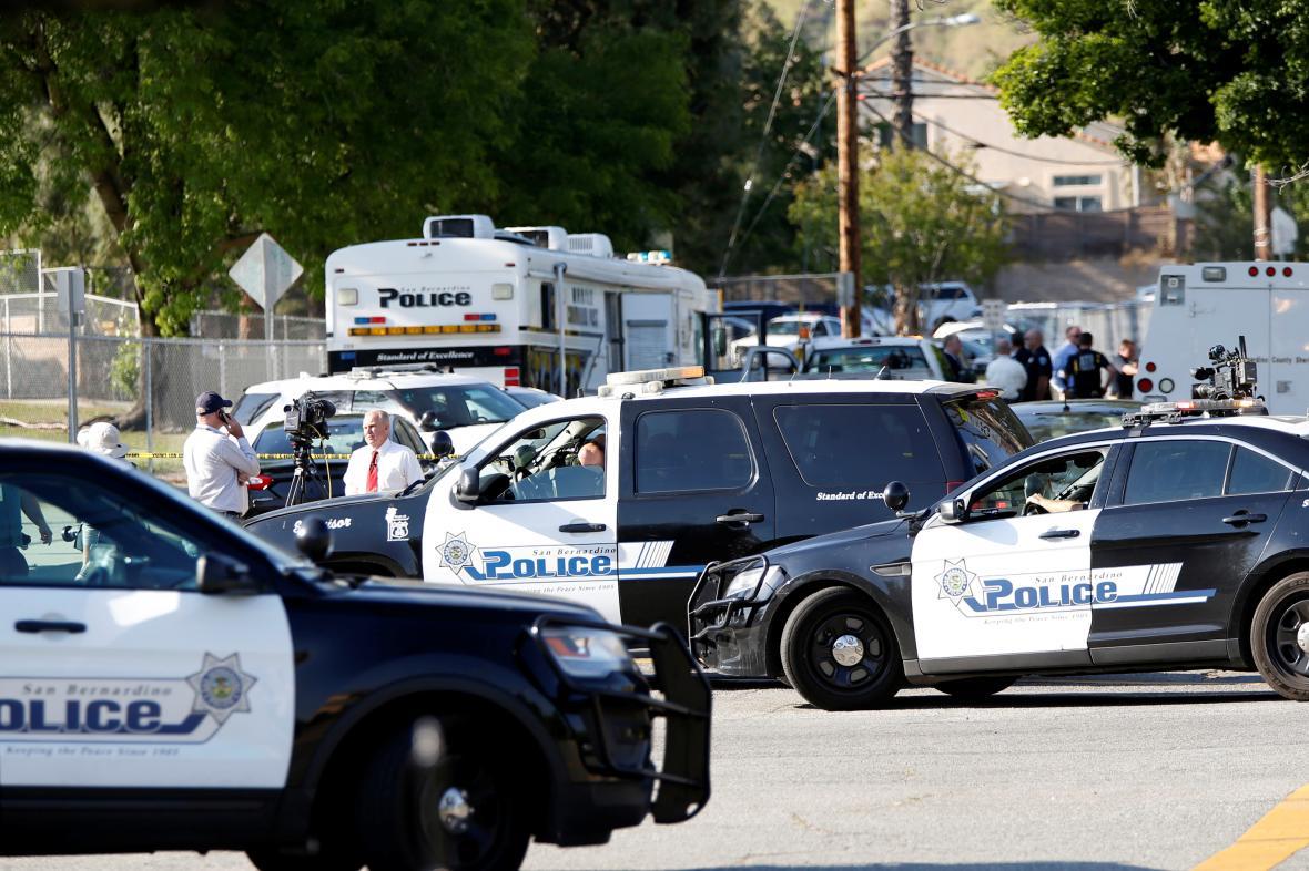 Policie na místě střelby