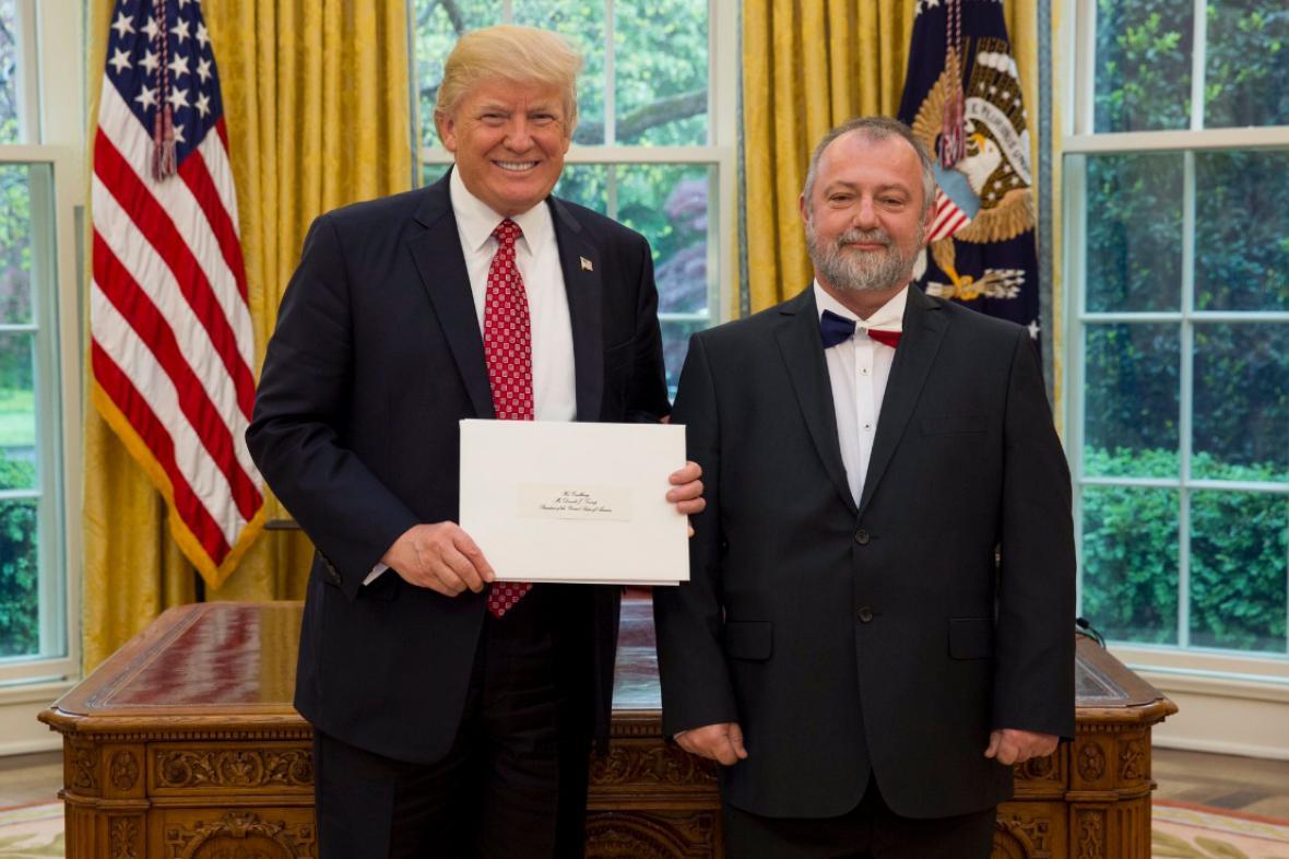 Hynek Kmoníček s Donaldem Trumpem