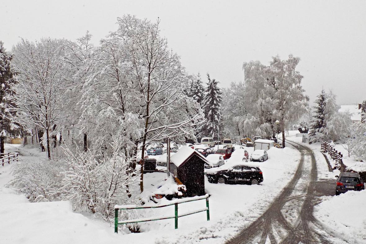 Sníh v Jeseníkách