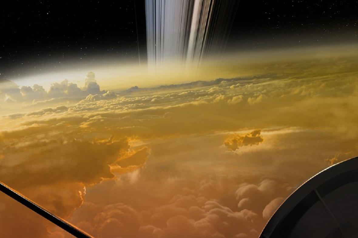 Vizualizace přiblížení k Saturnu