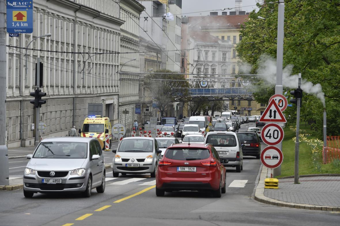 Problémy v dopravě v centru Brna