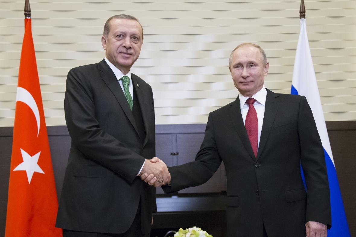 Recep Tayyip Erdogan a Vladimir Putin v Soči