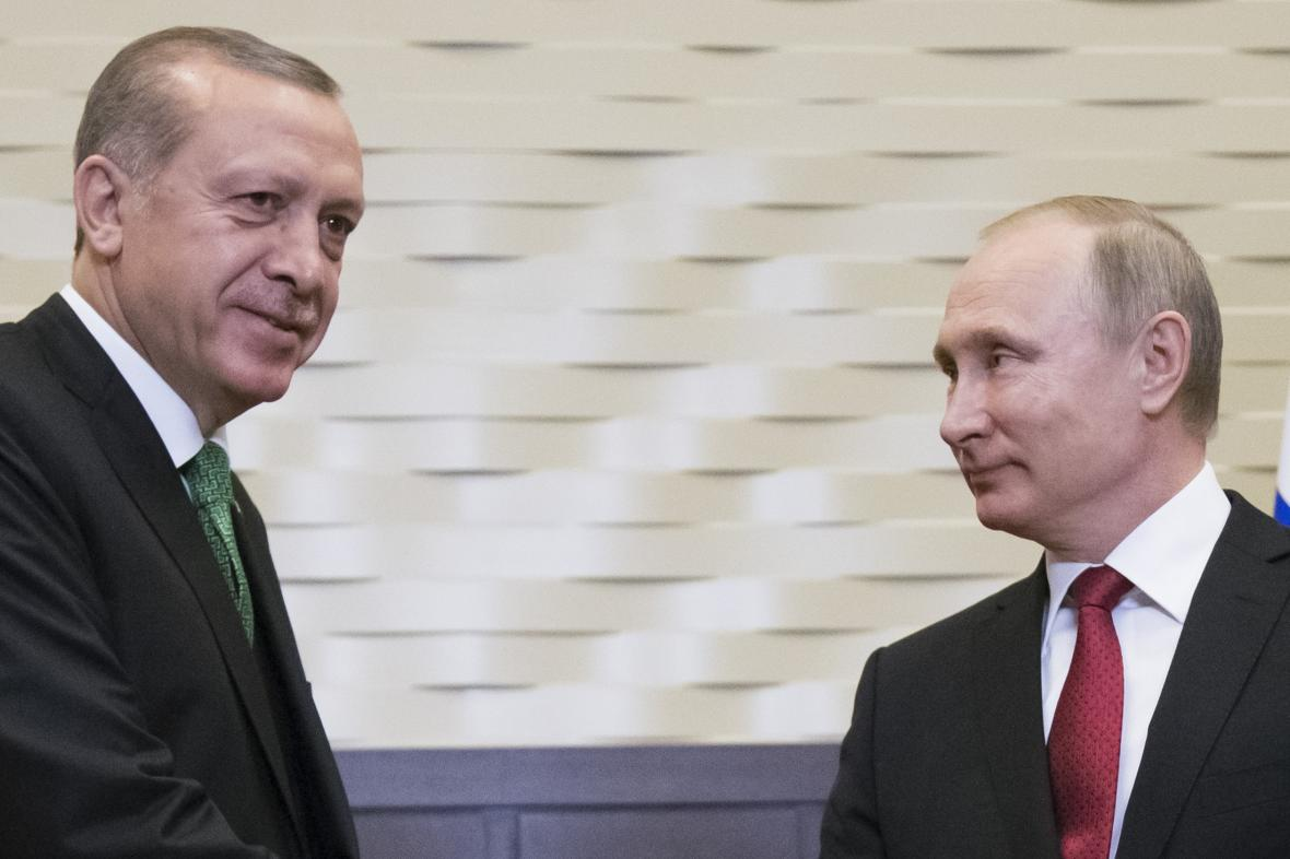 Recep Tayip Erdogan a Vladimir Putin