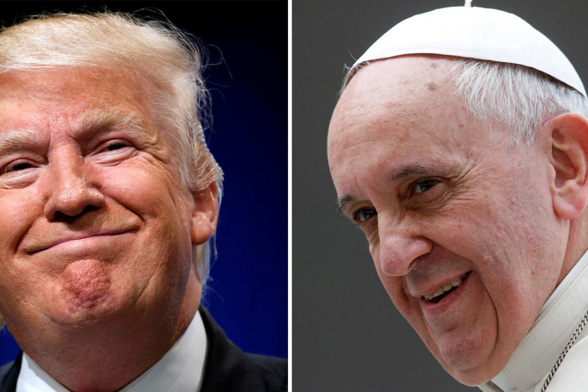 Donald Trump a papež František