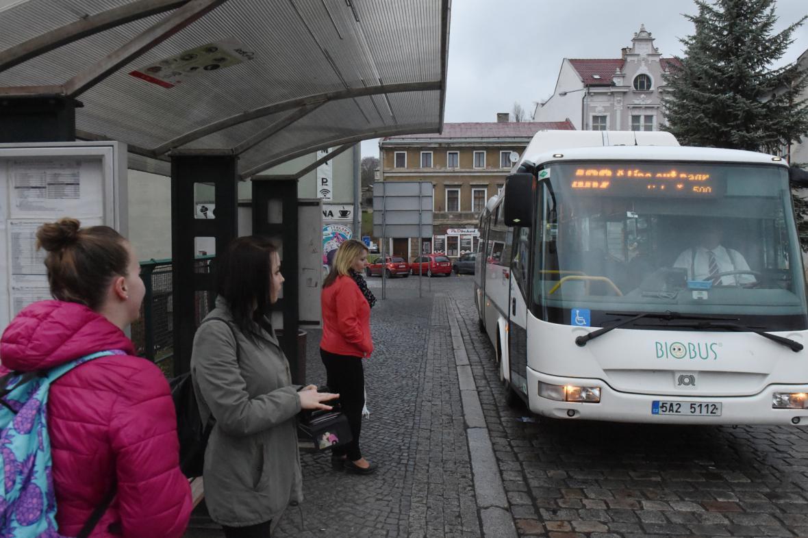 Autobusové nádraží v České Kamenici