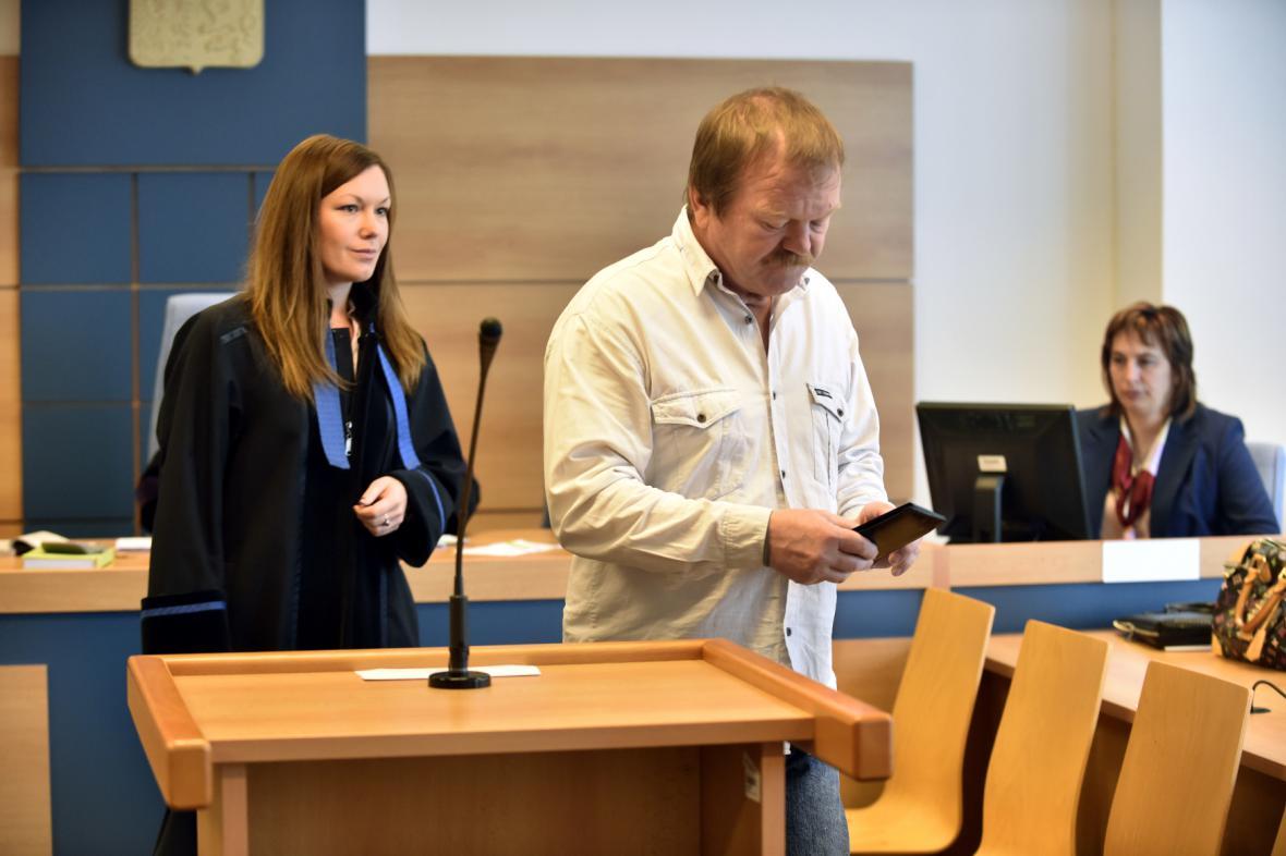 Řidič Vlastimil Zeman u zlínského soudu