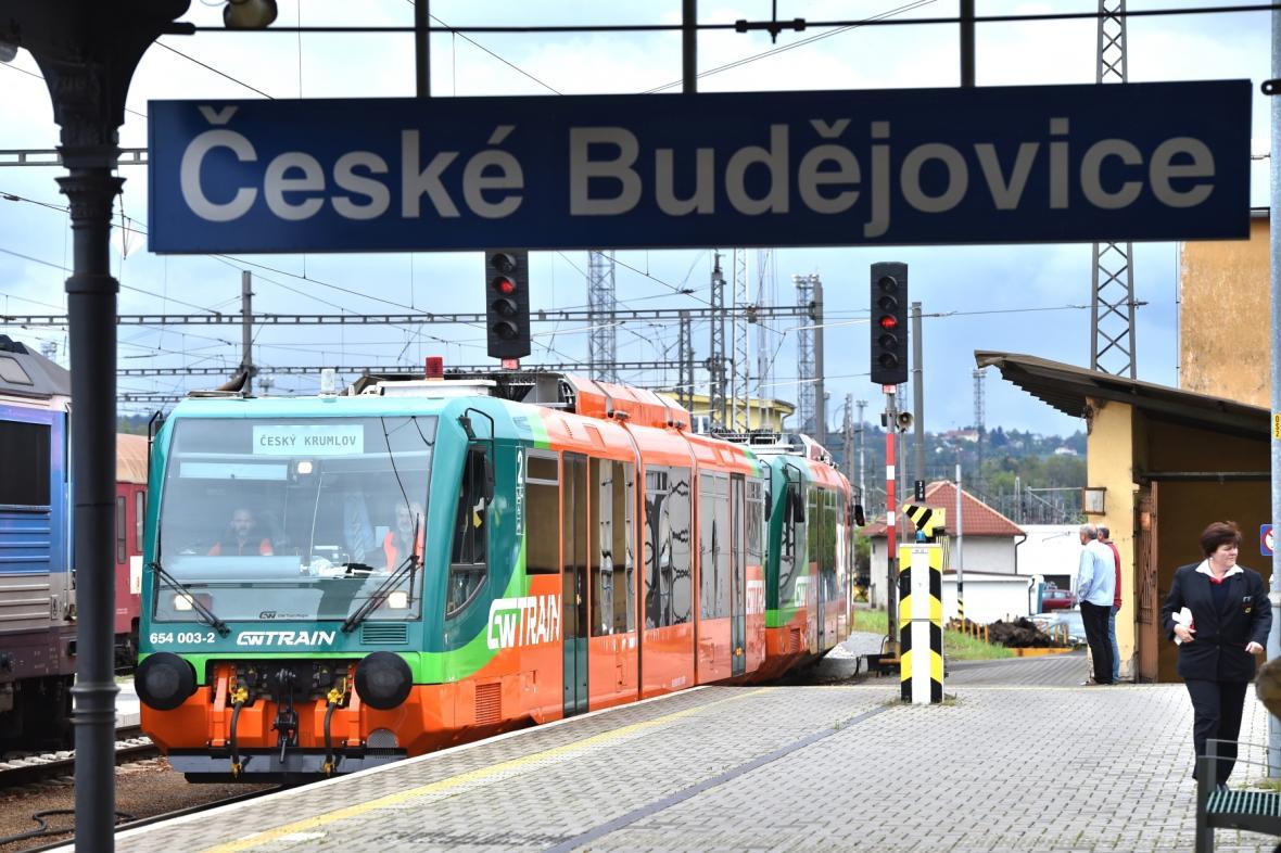 Souprava GW Train Regio na českobudějovickém nádraží