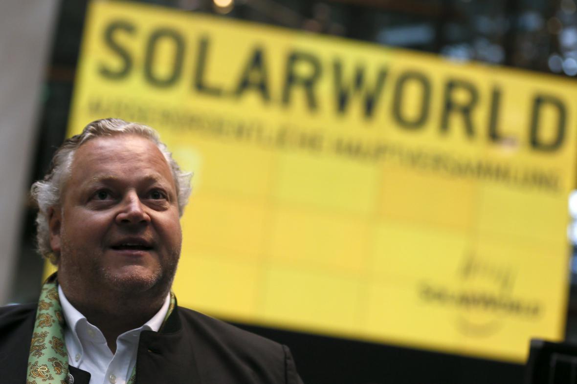 Šéf společnosti SolarWorld Frank Asbeck na snímku z roku 2013.