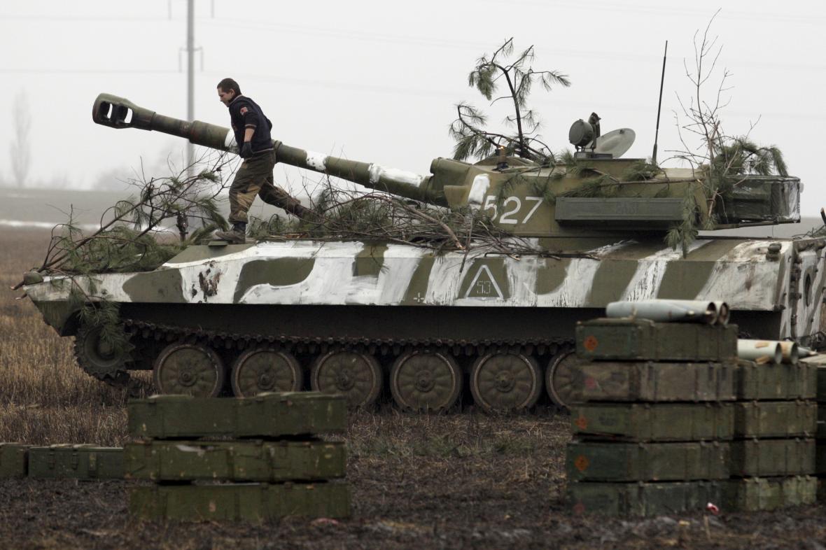 Tank donbasských separatistů