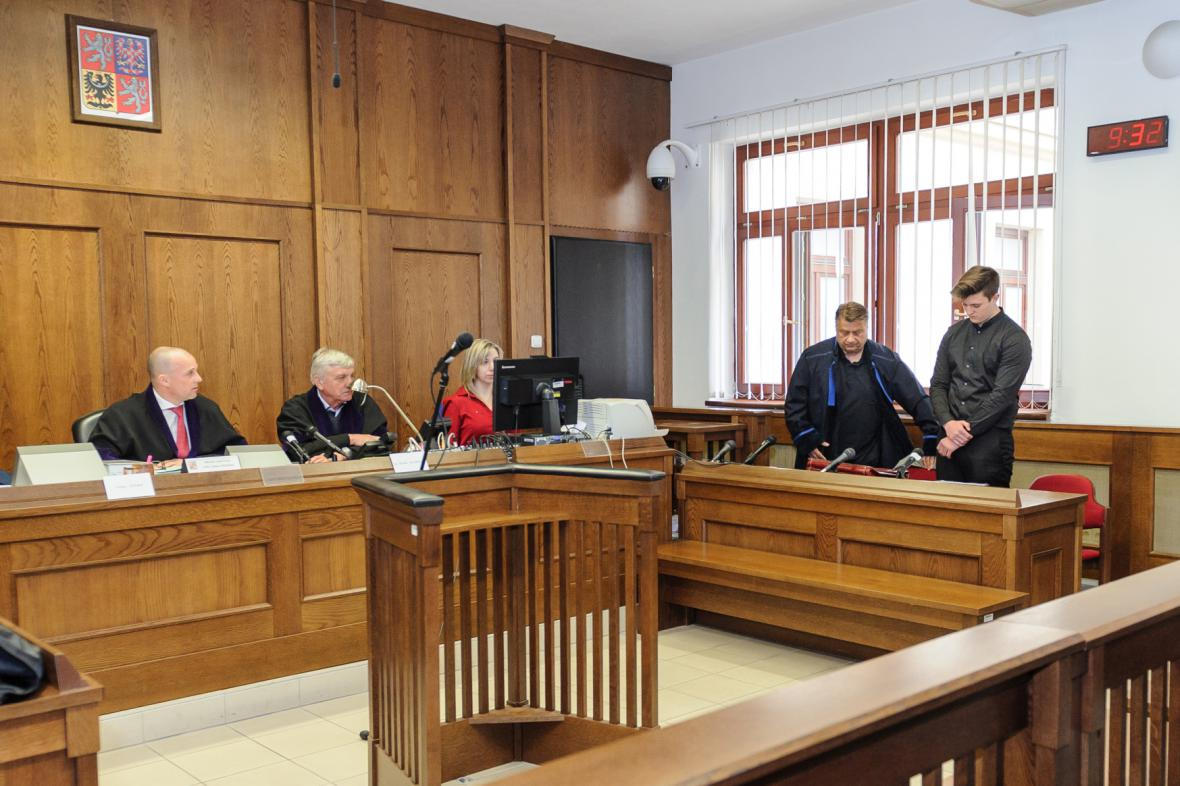 Obžalovaný Christoph Steinert před píseckým soudem