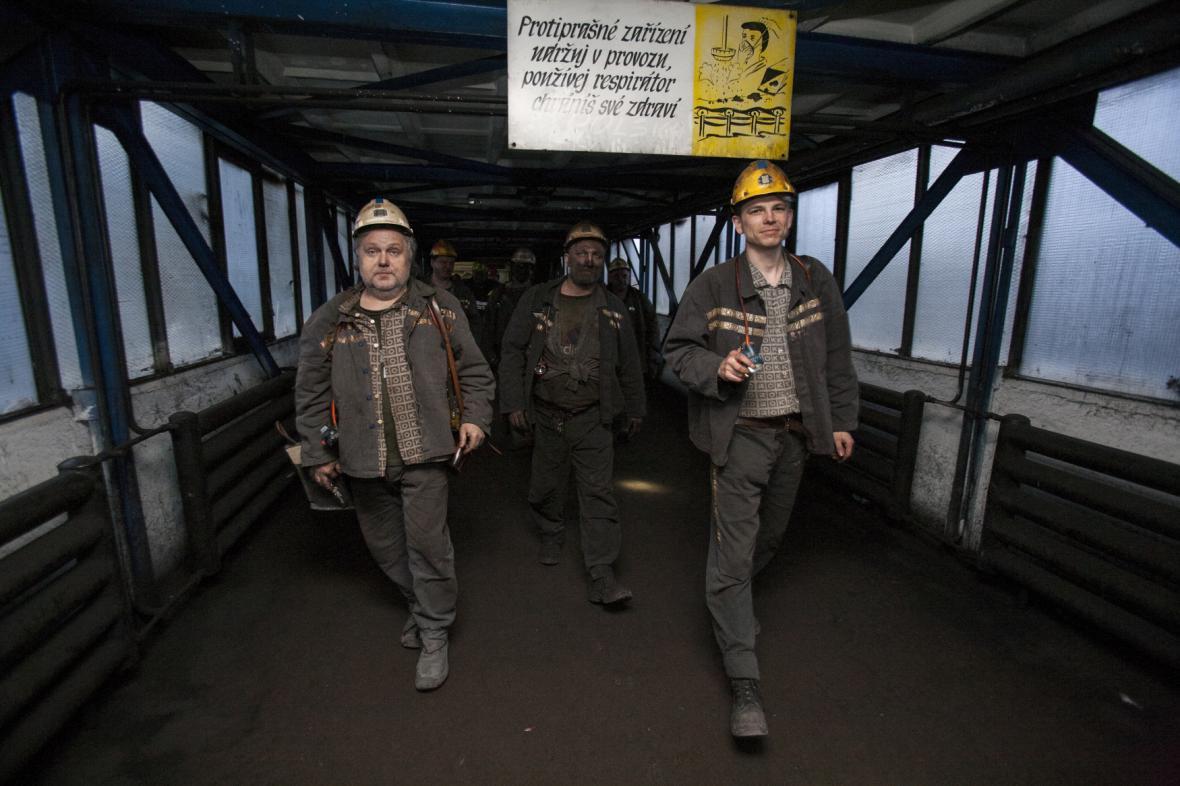 Zaměstnanci těžební společnosti OKD