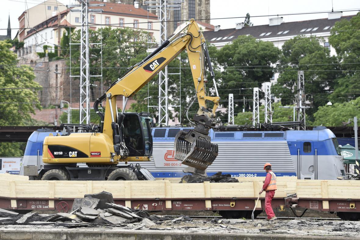 Rekonstrukce nástupiště na brněnském hlavním nádraží