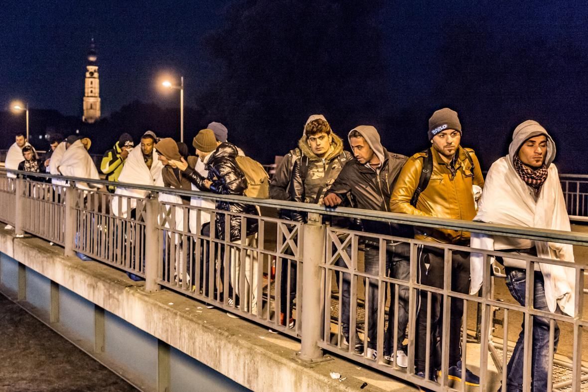 Uprchlíci v Německu (říjen 2015)