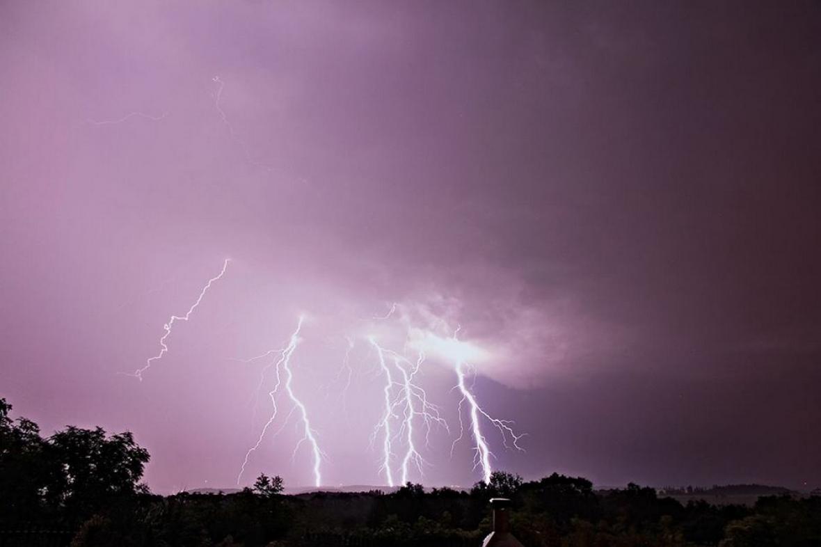 Noční bouřky na Novojičínsku