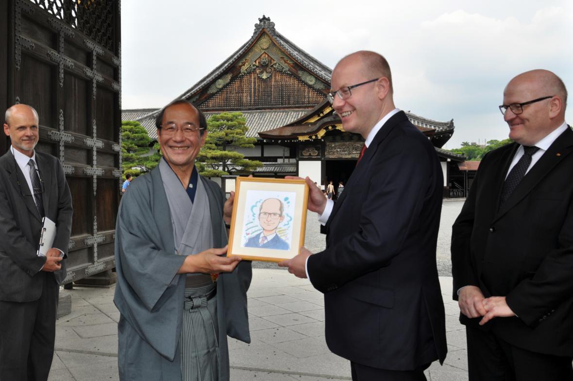 Premiér Sobotka v Japonsku