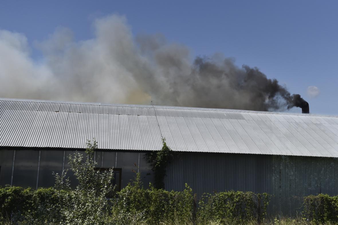 Požár pily v Podivíně