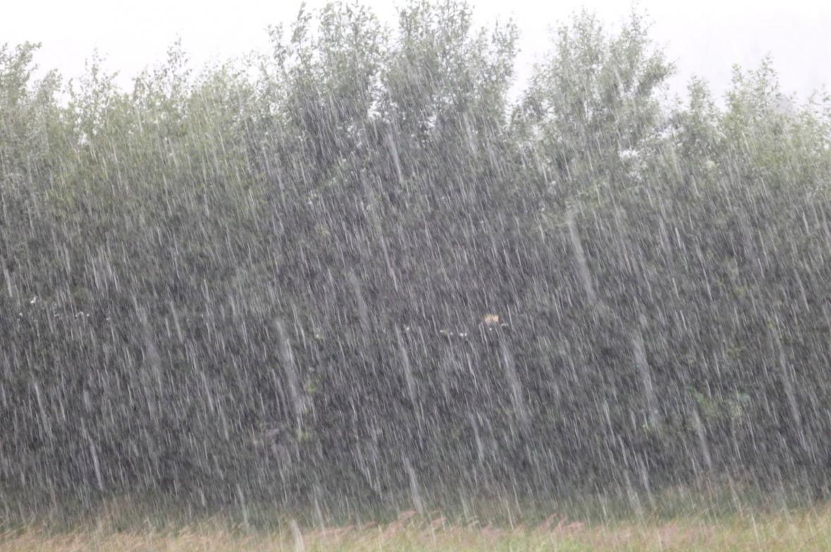 Bouřka se silným deštěm na Blanensku