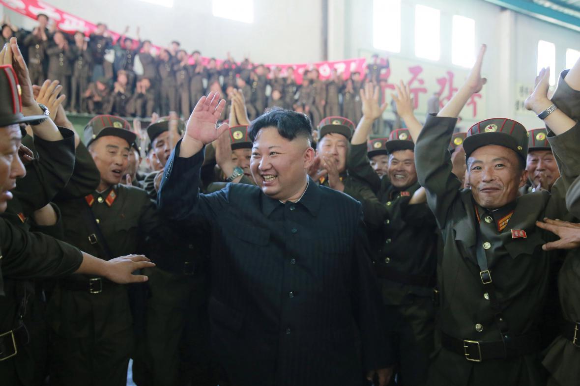 Severokorejcký vůdce Kim Čong-un