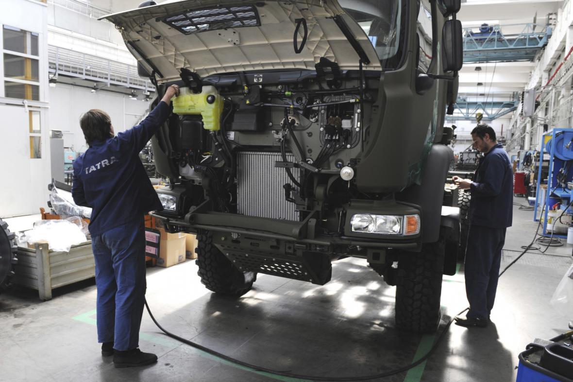 Kopřivnická automobilka Tatra Trucks dodává armádě moderní vozy