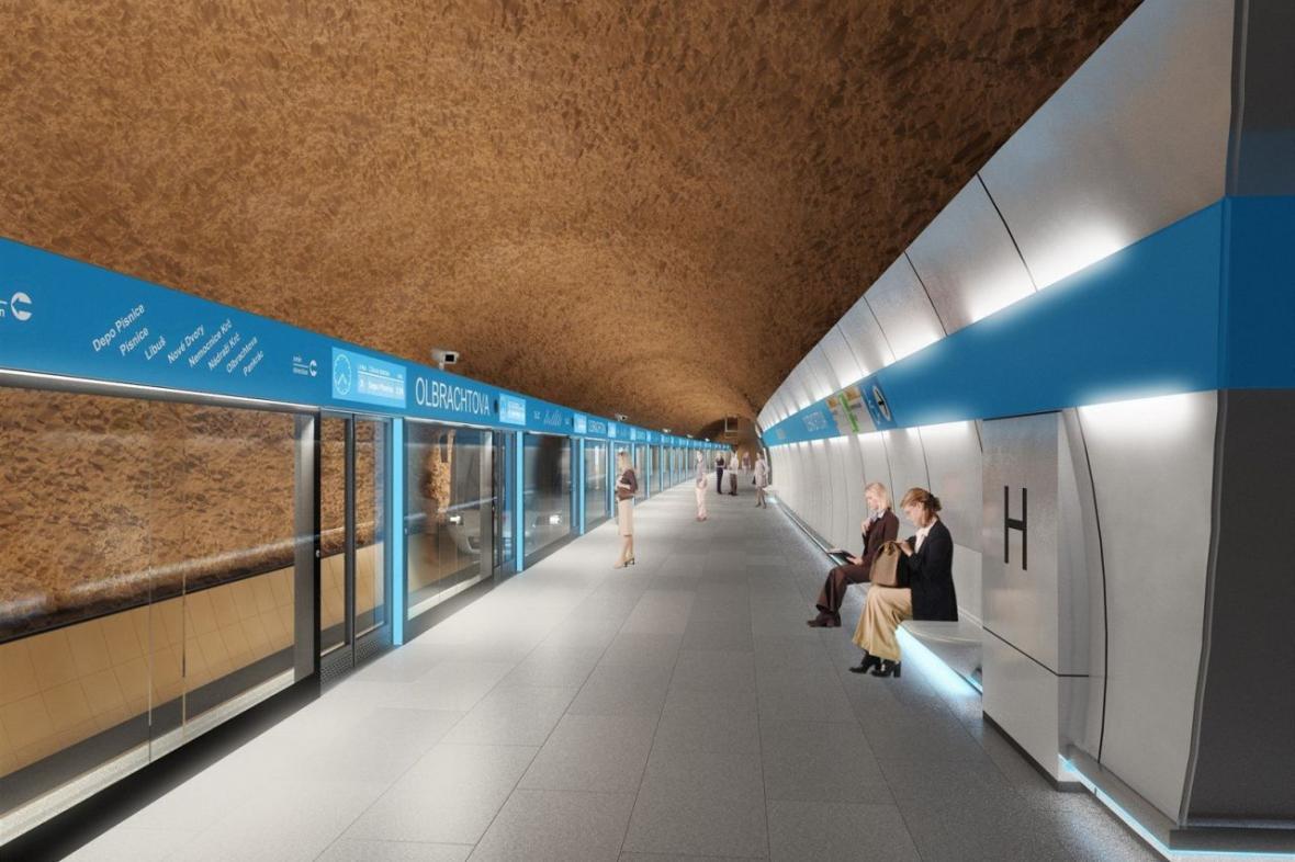 Jedna z nových variant podoby stanice Olbrachtova