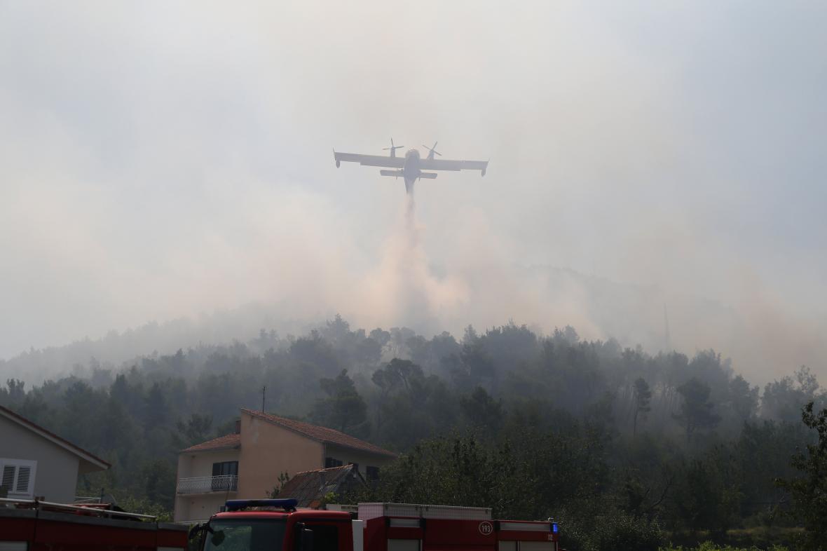 Chorvatsko bojuje s lesními požáry