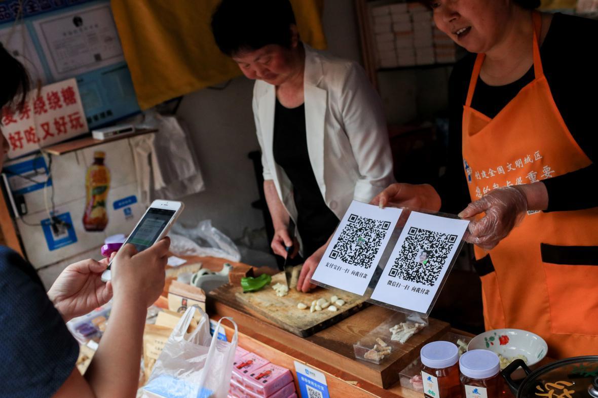 Platba mobilem v Číně