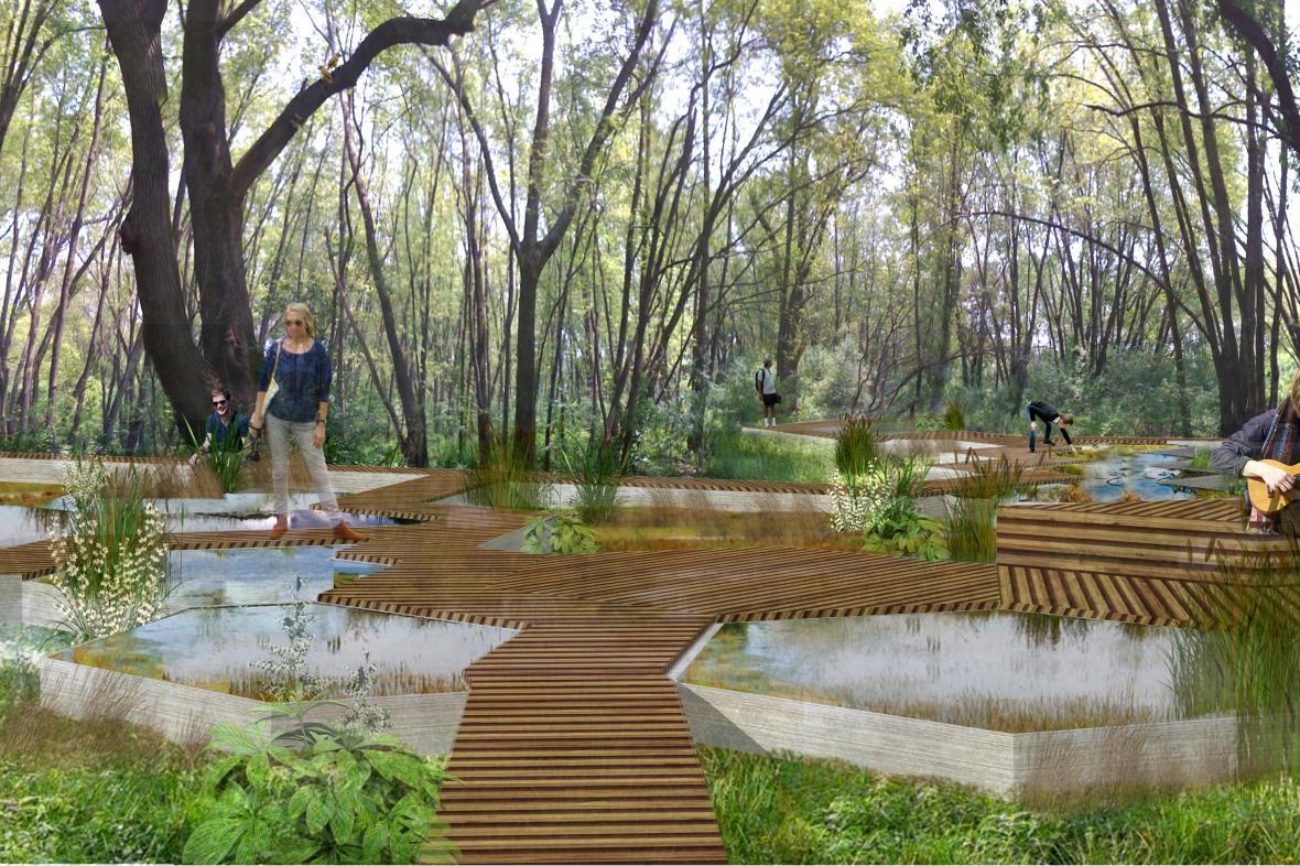Plán úpravy brněnského parku Hády
