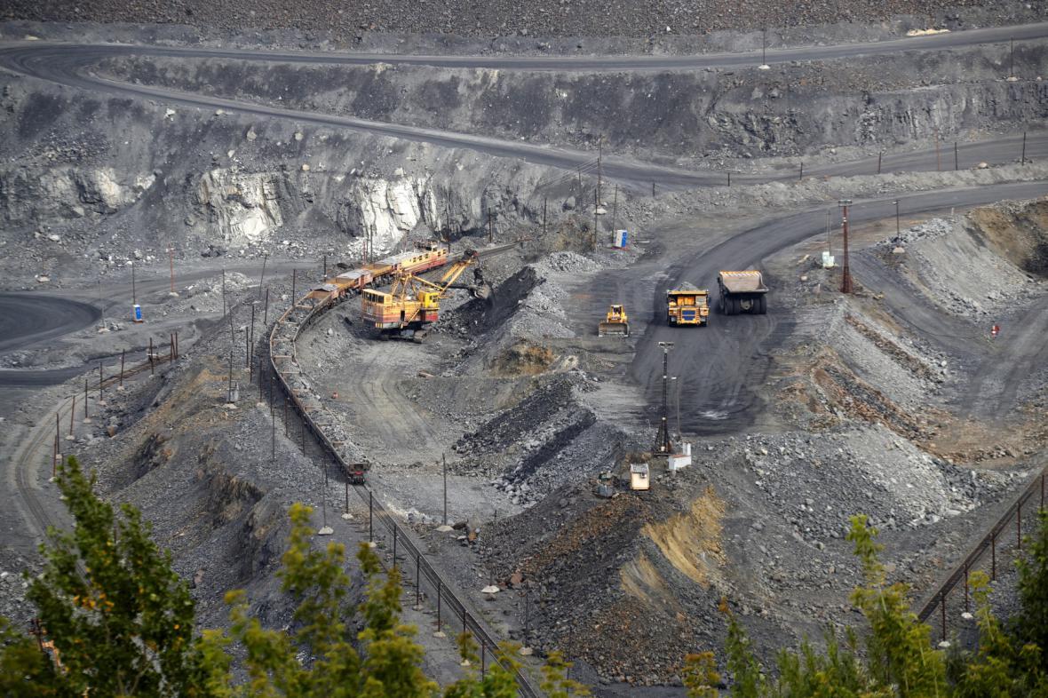 Těžba železné rudy u Bělgorodu