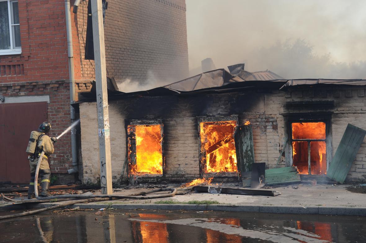 Požár v Rostovu na Donu