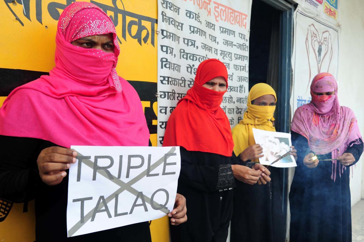 Indické aktivistky bojující proti praxi talák