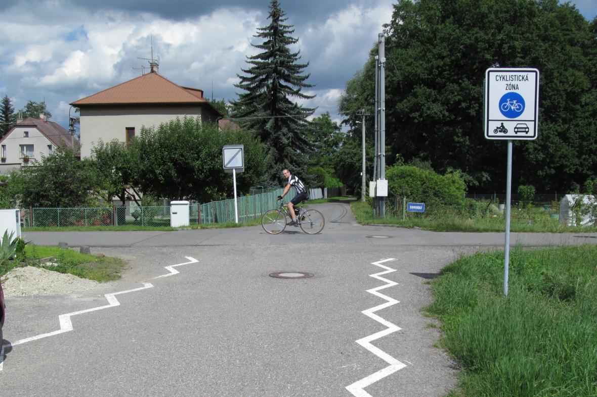 Jedna z cyklistických ulic v Ostravě