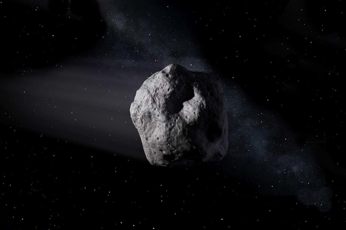 Asteroid Florence v představě NASA