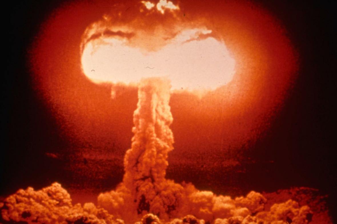 Exploze britské atomové bomby