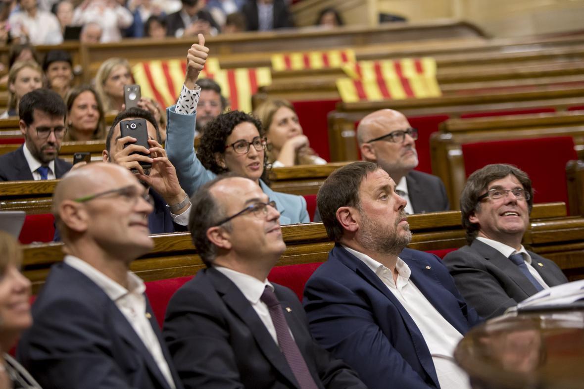 Hlasování katalánského parlamentu o referendu o nezávislosti