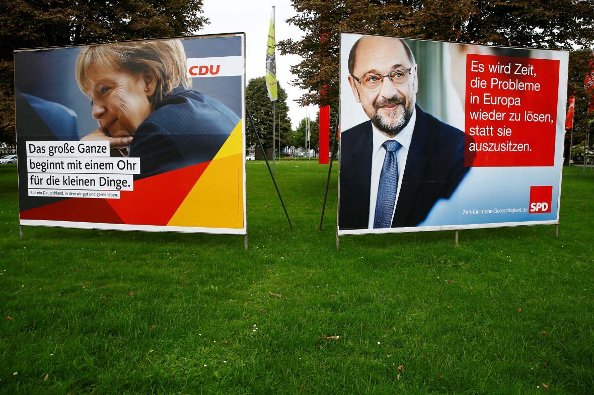 Německá předvolební kampaň